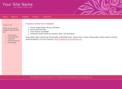 Catchy Personal Template Dreamweaver Web Templates