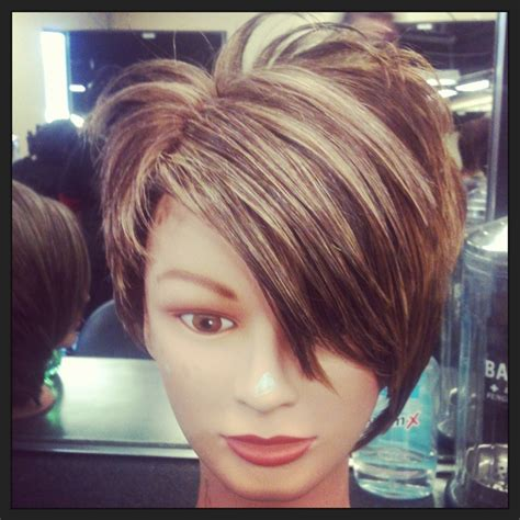 pixie cut  blonde highlights pixie cuts pinterest