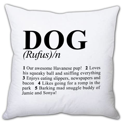 define cusion personalised dog cushions find me a gift