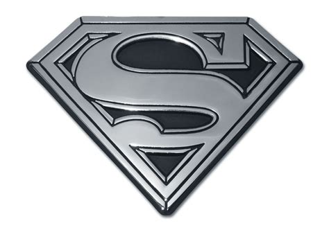 Emblem Superman Chrome superman solid chrome emblem elektroplate