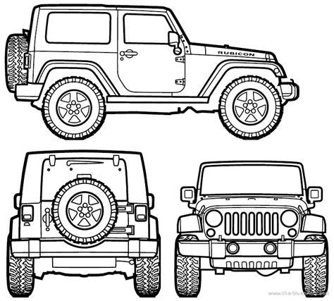 jeep drawing easy hard surface model jeep wrangler rubicon liz feldstein