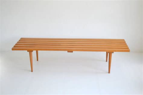 wood slat benches mid century wood slat bench for sale at 1stdibs