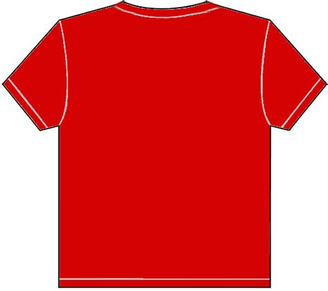 plain red t shirt template clipart best