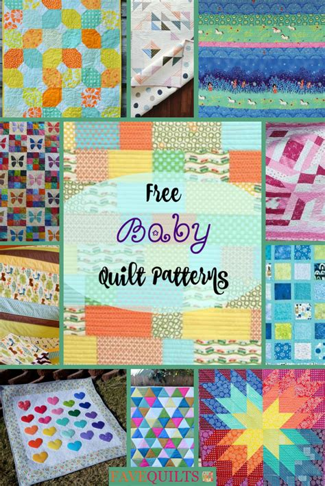 40 Free Baby Quilt Patterns Favequilts Com How To Use Quilting Templates