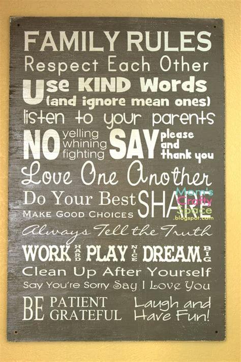 easy diy family rules artwork happiness  homemade