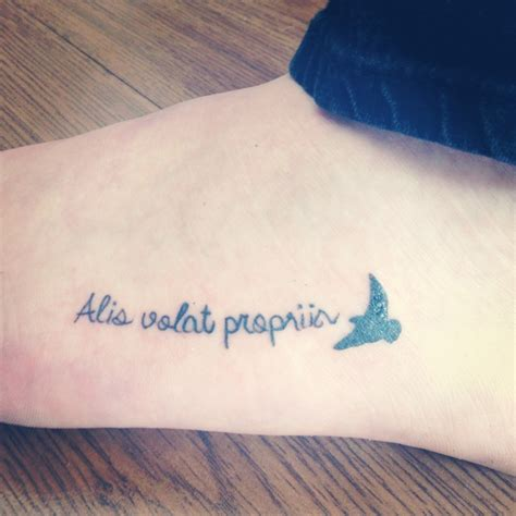 tattoo quotes alis volat propriis alis volat propriis tattoo she flies with her own wings