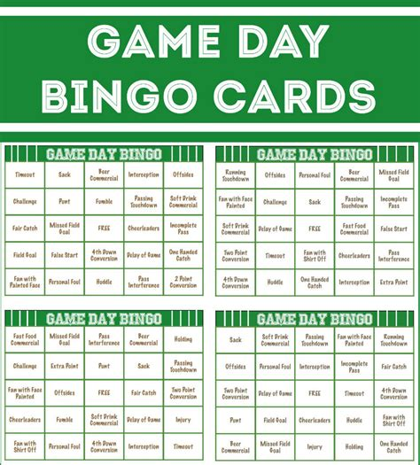 s day bingo card template bowl ideas the idea room