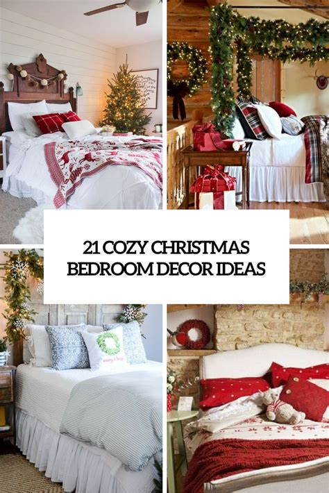decorate bedroom christmas bedrooms archives shelterness