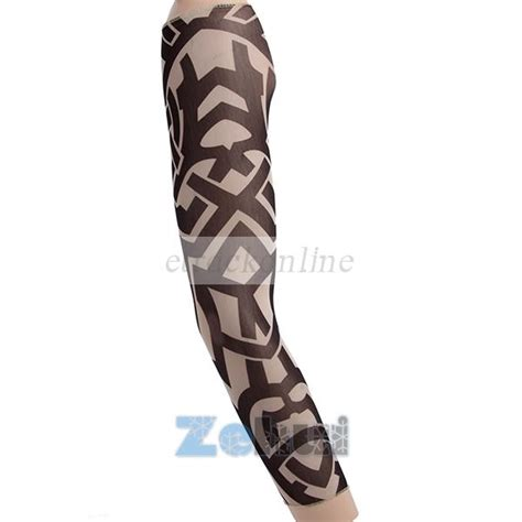 Funkytattoo Sleeve Arm Warmer Bike To Work Menset Tangan Tat 1pc cycling sports outdoor uv block cool sun protection arm sleeves cover ebay