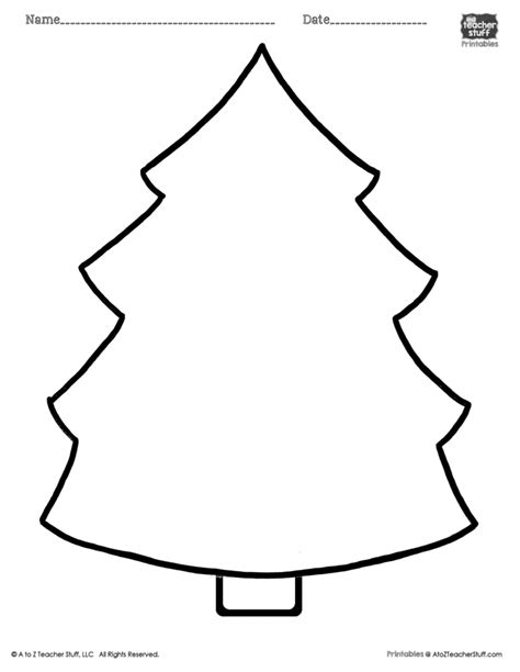 christmas tree tracing pattern christmas tree printable page a to z teacher stuff