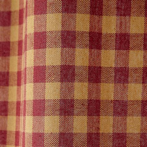Burgundy Check Curtains Check Scalloped Country Curtain Swags By Vhc Brands Navy Or Burgundy Ebay