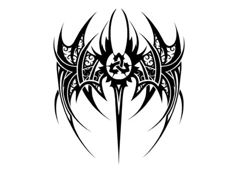tribal wings tattoos biohazard tribal designs tribal triquetra wings