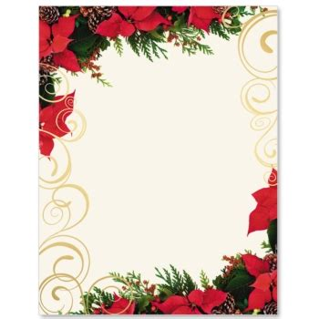poinsettia swirl specialty border paper paperdirect