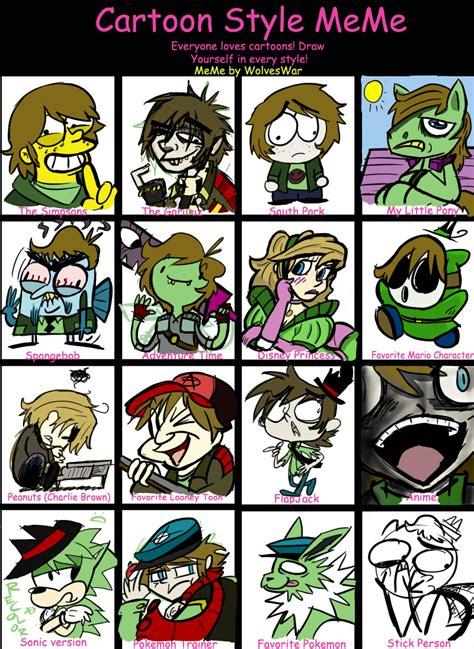 Cartoon Meme - cartoon drawing styles nice pics