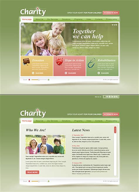 bootstrap templates for charity children charity html5 template id 300111400 from