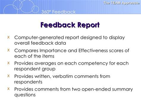 how to write a feedback report sle 360 feedback orientation template