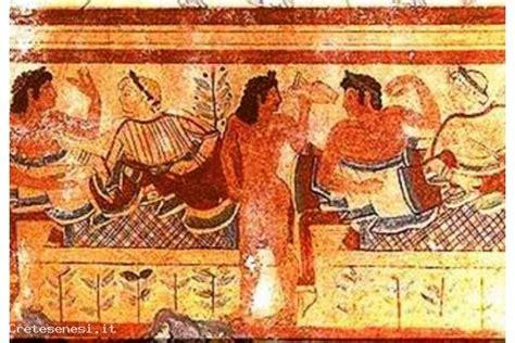 banchetto etrusco la notte dei musei il banchetto degli etruschi crete