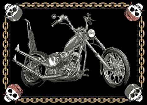 Motorbike Rug by Biker Area Rug 6x8 Skulls Motorcycle Harley Davidson Ebay