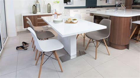 White Gloss Extending Dining Table And Chairs Eames And White Gloss Extending Dining Set
