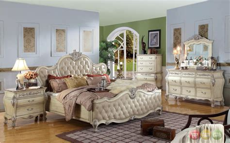 tufted headboard bedroom sets penelope white bedroom by esf w tufted leather headboard