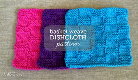 knitted basket weave dishcloth pattern seed stitch dishcloths just be crafty