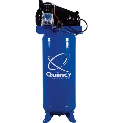 free shipping quincy single stage air compressor 3 5 hp 220 volt 60 gallon vertical tank