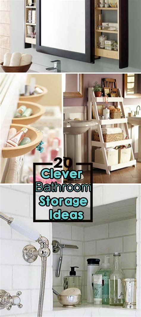 Clever Bathroom Storage Ideas | 20 clever bathroom storage ideas hative