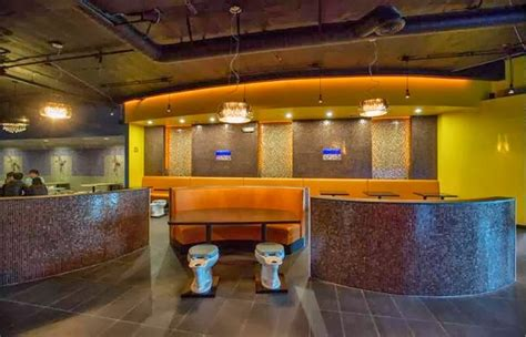 bathroom themed restaurant magic restroom cafe america s first bathroom themed restaurant beautiful pic