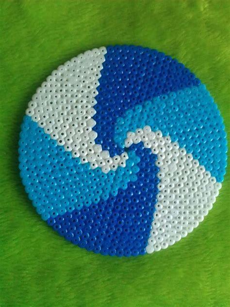 circle perler bead patterns spiral pattern on circle template perler