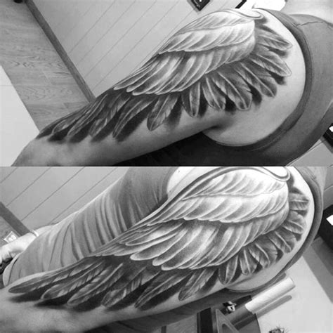 3d wings tattoo designs top 100 best wing tattoos for designs that elevate