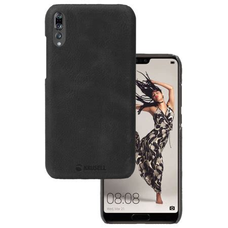 krusell sunne huawei p20 pro leather case black