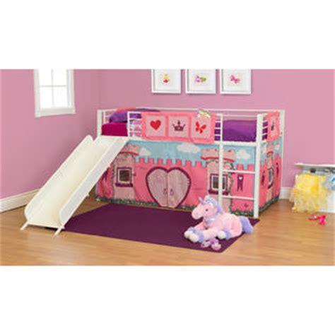 Essential Home Slumber N Slide Curtain Flower Curtain Slumber N Slide Loft Bed Curtain Set