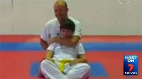 How To Apply A Sleeper Hold taekwondo choked student to show move