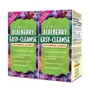 Acai Cleanse 10 Day Detox Reviews by 10 Day Acai Berry Easy Cleanse 2 Packs Of 40