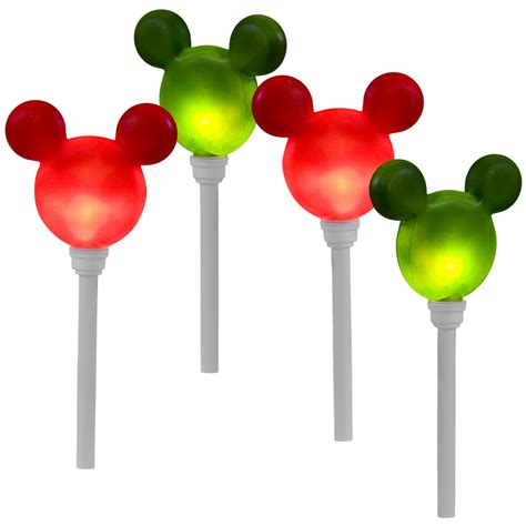 disney light show mickey ears pathway stakes set of 4