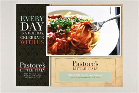 italian restaurant flyer template inkd