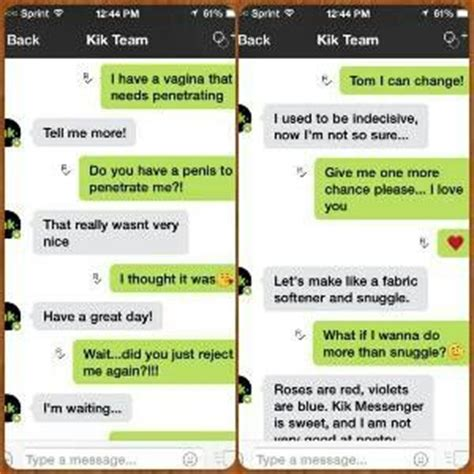 Find To Sext On Kik Sexting A Robot I Named The Kik Team Bot Tom Attention Grabbers Toms