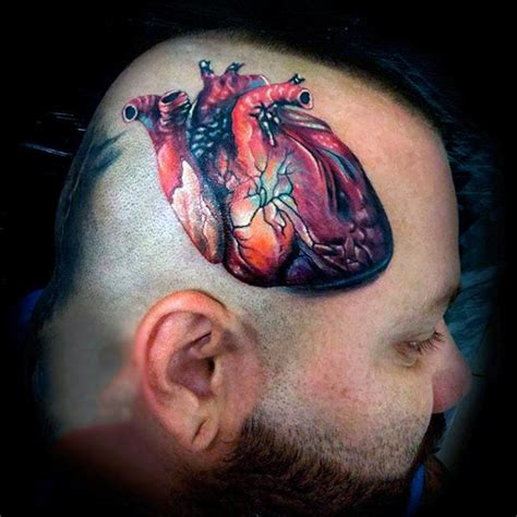 tattoo realistic heart 90 anatomical heart tattoo designs for men blood pumping ink