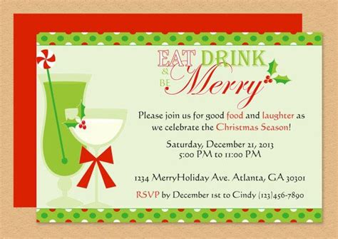 how to prepare invitation christmas card hd eat drink be merry invite edit template microsoft word invitations