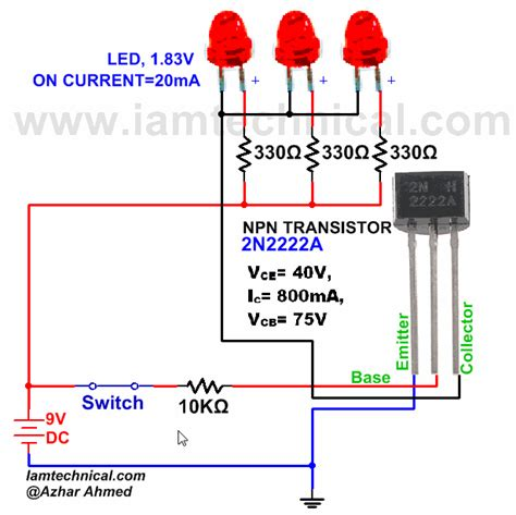 transistor mosfet switch npn transistor 2n2222a as a switch iamtechnical