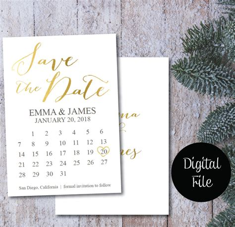 calendar save the date template save the date calendar template save the date postcard