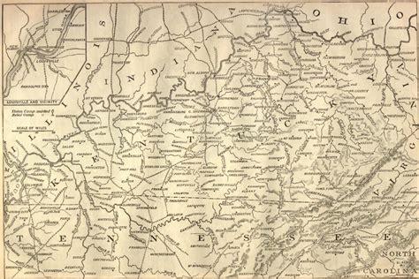 kentucky map civil war civil war battle map of kentucky