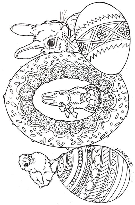 free printable easter coloring pages for adults easter eggs coloring page