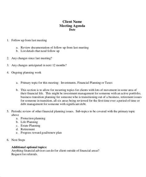 Meeting Agenda Team Meeting Agendas Uncategorizedqualifiedteammeetingagendatemplate Team Client Financial Review Template