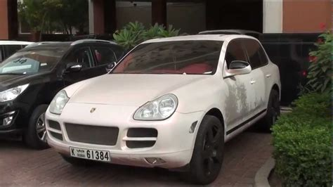porsche cayenne 1st generation effect paintjob in of pearl color