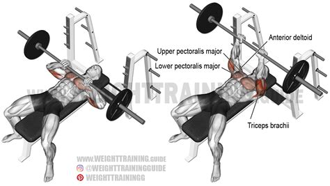 incline close grip bench close grip barbell bench press exercise instructions and video