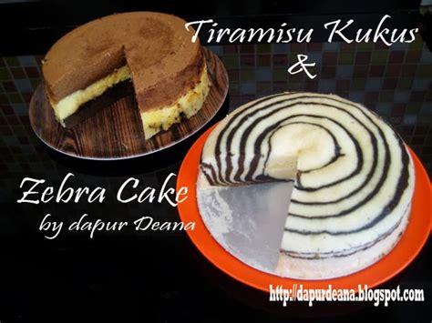 video membuat cake zebra dapur deana tiramisu kukus zebra cake memanfaatkan