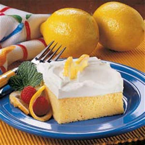 Light Cake Recipes by Light Lemon Cake Recipe Taste Of Home