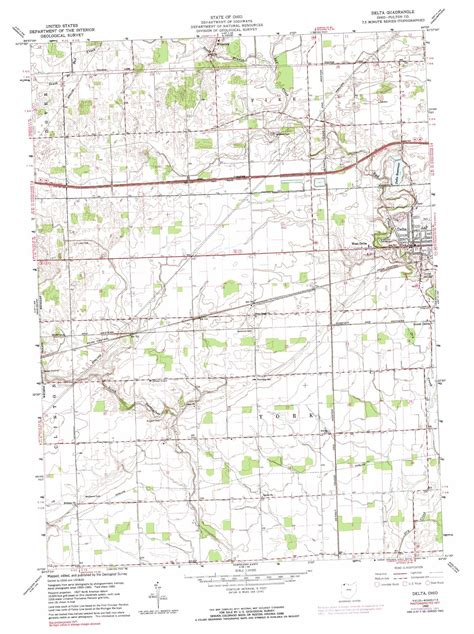 delta ohio map delta topographic map oh usgs topo 41084e1