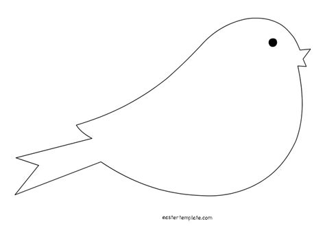 Printable Bird Template by Bird Template Printable Clipart Best